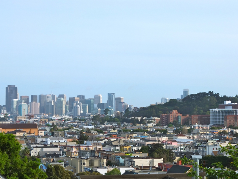 Perched on Bernal Heights, the Khankah has an expansive overview of the city