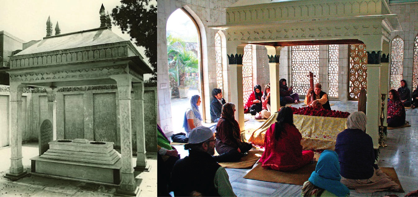 Photos of HIK Dargah, 1976 and 2007